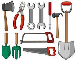Diferentes tipos de ferramentas manuais vetor