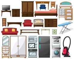 Móveis e equipamentos eletrônicos vetor