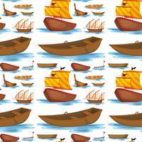 Navios e barcos sem costura vetor