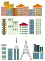 Um conjunto de edifício moderno vetor