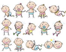 Bebês brincalhões vetor