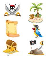 Coisas relacionadas a um pirata vetor