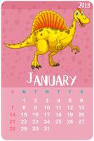 Modelo de calendário para janeiro de 2018