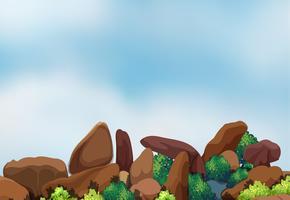 Grande formação rochosa vetor