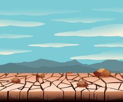 Uma paisagem de terra seca