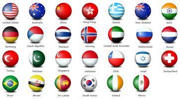 Ícones de bandeira vetor