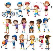 Crianças e esportes vetor