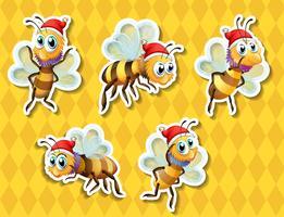 Vôo de abelha vetor