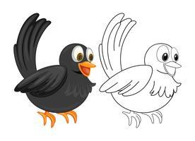 Contorno animal para corvo vetor