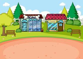 Uma cena de loja rural simples vetor