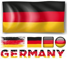 Bandeira da Alemanha em projetos diferentes vetor