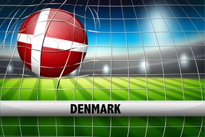 Copa do mundo da futebol dinamarca vetor