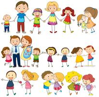 Feliz e amorosa família vetor