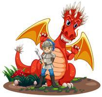Cavaleiro Dragão vetor