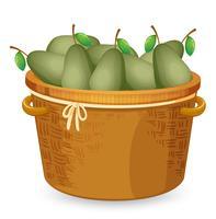 Uma cesta de abacate vetor