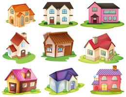 Casas diferentes vetor
