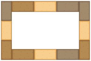 Modelo de fronteira com tijolos marrons vetor