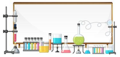 Quadro branco e equipamento de laboratório vetor