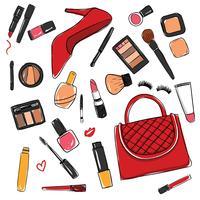 conjunto de vetores cosméticos