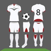design de vetor de kit de futebol, modelo de camisa