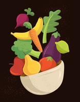 Ilustração de alimentos saudáveis vetor