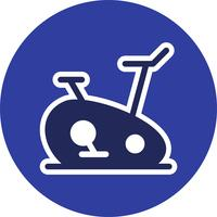 Exercício Bike Icon Vector Illustration