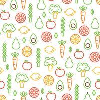 Padrão de comida colorida vetor