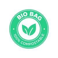 saco biológico 100% compostável. vetor