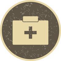 Ícone de caixa de primeiros socorros de vetor