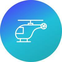 Vector helicóptero ícone