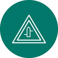 Vector menor Cross roads da direita para a esquerda Road Sign Icon