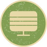 Monitor, ícone, vetorial, ilustração vetor