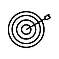 Bullseye Icon Ilustração Vetor