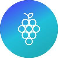 Ícone de uvas de vetor
