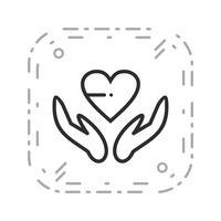 Ícone de sinal de saúde de vetor