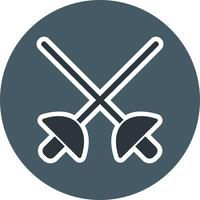 Esgrima icon ilustração vetorial vetor