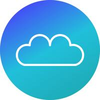 Ícone de nuvem de vetor