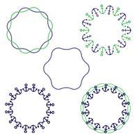 quadros circulares náuticos vetor