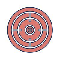 Ilustração em vetor ícone objetivo