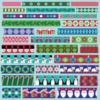 Clipart de fita de washi de Natal