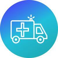 Vector ícone de ambulância