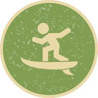 Surfar, ícone, vetorial, ilustração vetor
