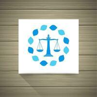 Logotipo do advogado vetor