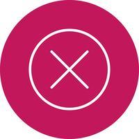Cancelar a ilustração vetorial de ícone vetor