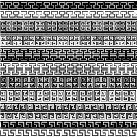 padrões de fronteira de fretwork preto vetor