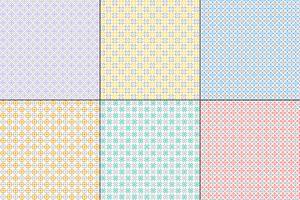 padrões de colcha geométrica pastel com cinza vetor