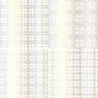 prata metálica e padrões de floco de neve nórdicos brancos