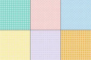 padrões de colcha geométrica pastel vetor
