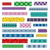 bandana washi tape padrões vetor
