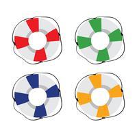 design de coleção de vetor de anel de vida